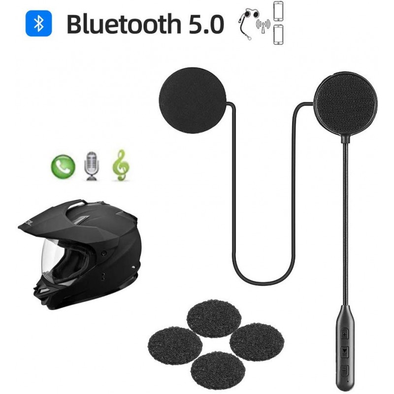 Supporting Auto Answering Incoming Calls,Simple Music Control /& Dialing Voice Prompts Bluetooth 5.0 Helmet Headset YOVDA Motorcycle Wireless Headset for Helmet